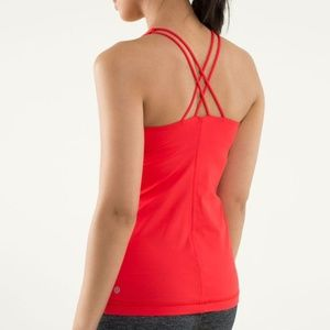 Lululemon Free to Be Tank Yoga Sports Love Red 6